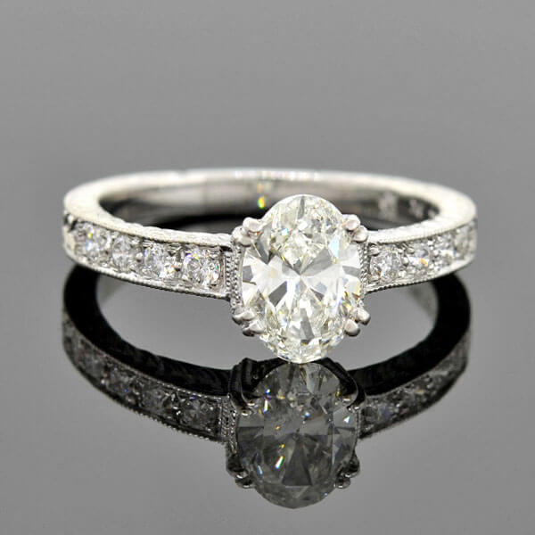 Estate 18kt Diamond Engagement Ring 0.90ct