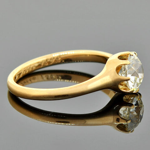 MARCUS & Co. Victorian 18kt Gold Diamond Engagement Ring 1.28ct