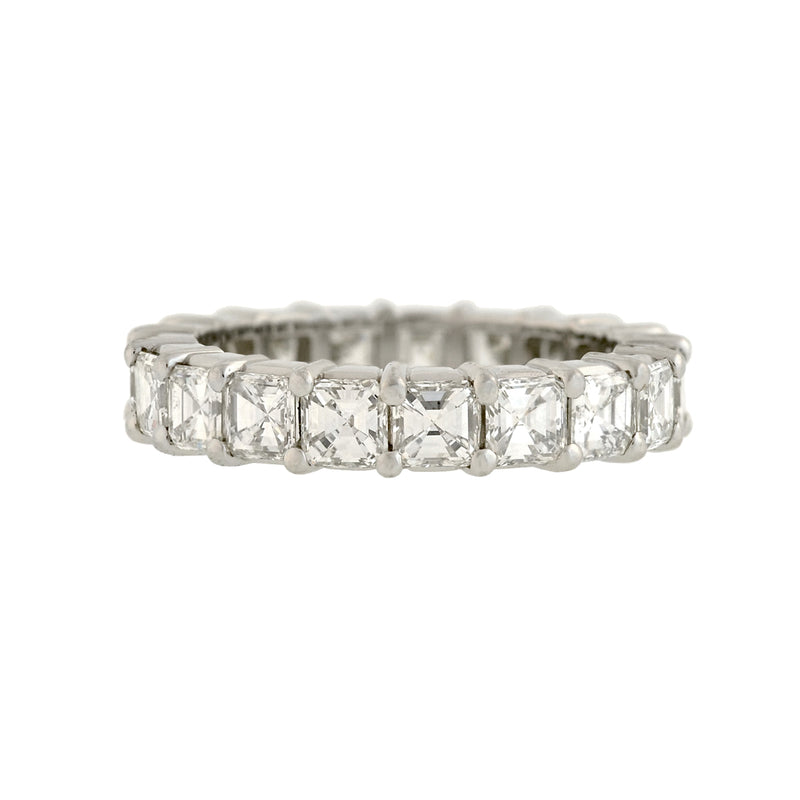 Art Deco Platinum Baguette Cut Diamond Eternity Band 0.63ctw