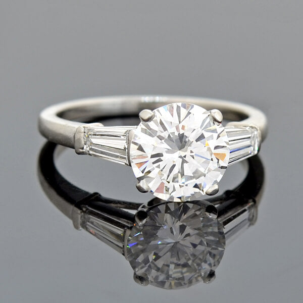 Vintage Platinum Diamond Engagement Ring 1.59ct