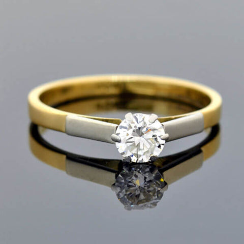 Edwardian 18kt/Platinum Diamond Engagement Ring 0.40ct