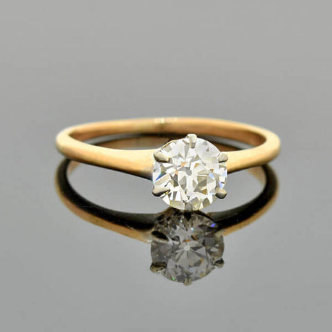 Retro Platinum Diamond Engagement Ring 0.53ct