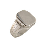 Late Art Deco Sterling Silver Signet Locket Ring