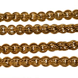 Victorian 14kt Textured Link Chain Necklace 25