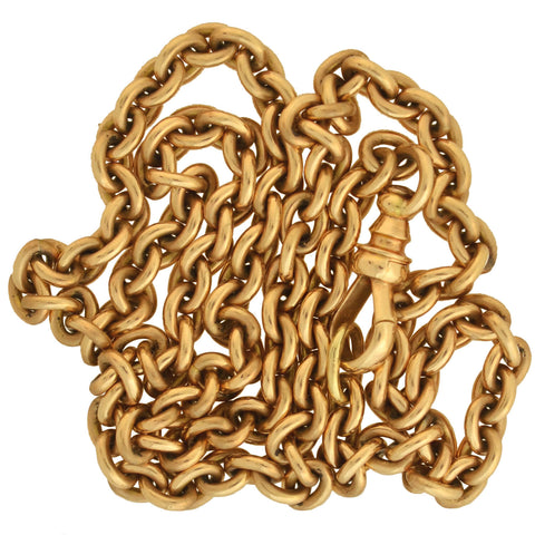 Victorian 14kt Gold Watch Chain 15.75""