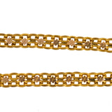Victorian Gold-Filled Floral Motif Link Book Chain Necklace 18.5