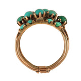 Vintage 14kt Persian Turquoise Stacked Band Harem Ring