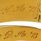 Georgian 18kt Etched Envelope Motif Hidden Compartment Ring