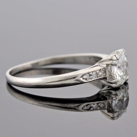 Retro Platinum Diamond Engagement Ring 0.68ct