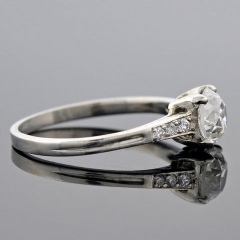Art Deco Platinum Diamond Engagement Ring 1.02ct center