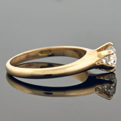 Late Victorian 14kt Diamond Engagement Ring 0.50ct