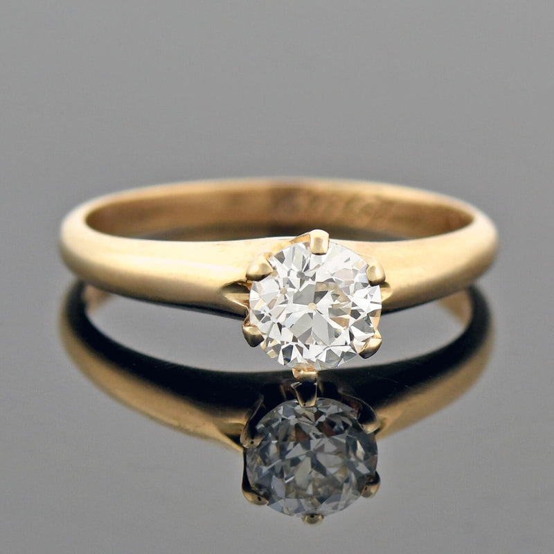 Art Deco 18kt Diamond Engagement Ring 0.37ct