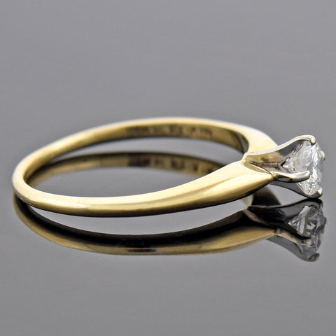 Vintage 14kt/Platinum Diamond Solitaire Engagement Ring 0.20ct
