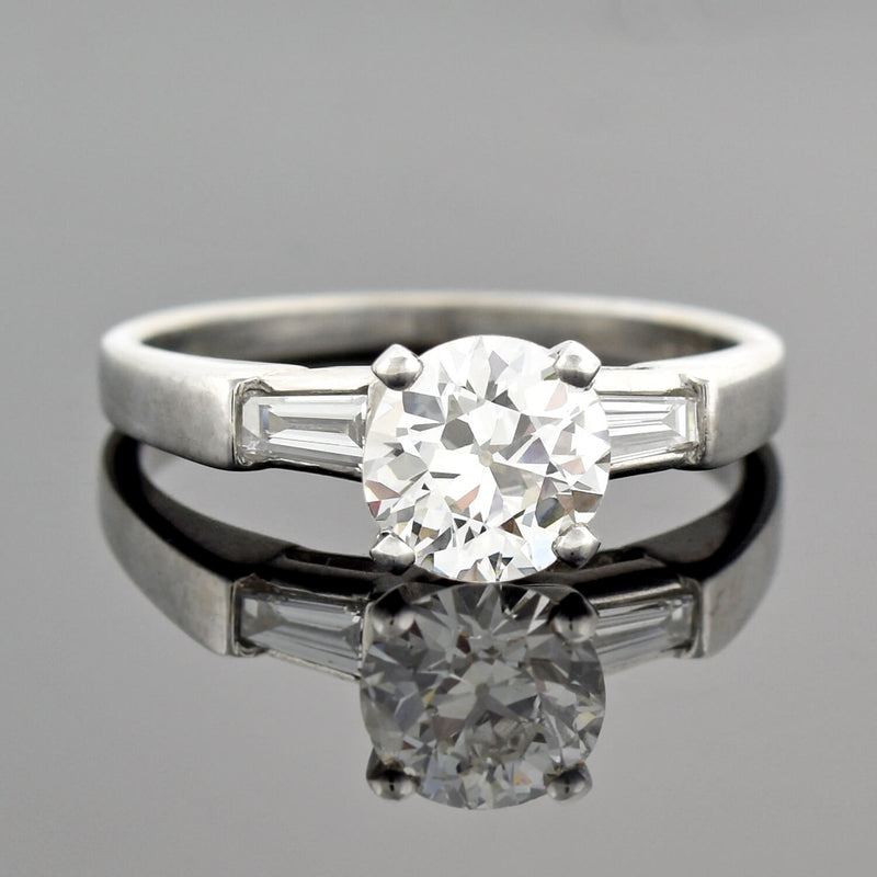 Georgian 15kt/Sterling Old Rose Cut Diamond Ring 1.00ctw