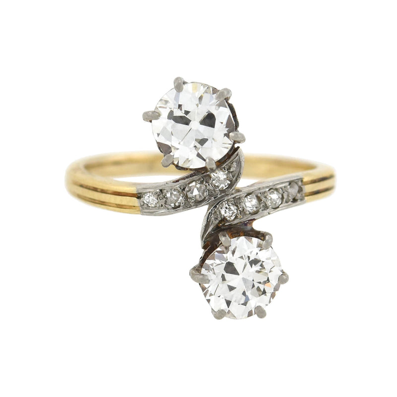 Edwardian Platinum Diamond Engagement Ring 0.85ct center