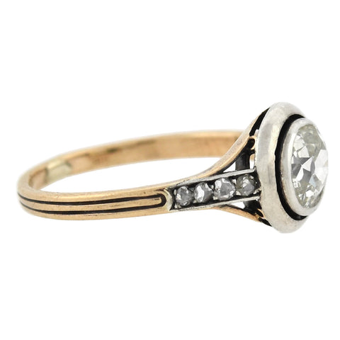 Edwardian 14kt/Platinum Diamond Engagement Ring 1.08ctw