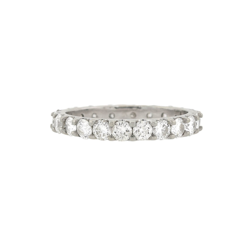 CARTIER Estate 18kt White Gold + Three Diamond LOVE Ring