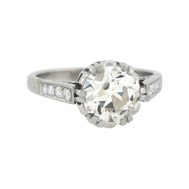 Estate Platinum Diamond Solitaire Engagement Ring 1.13ct