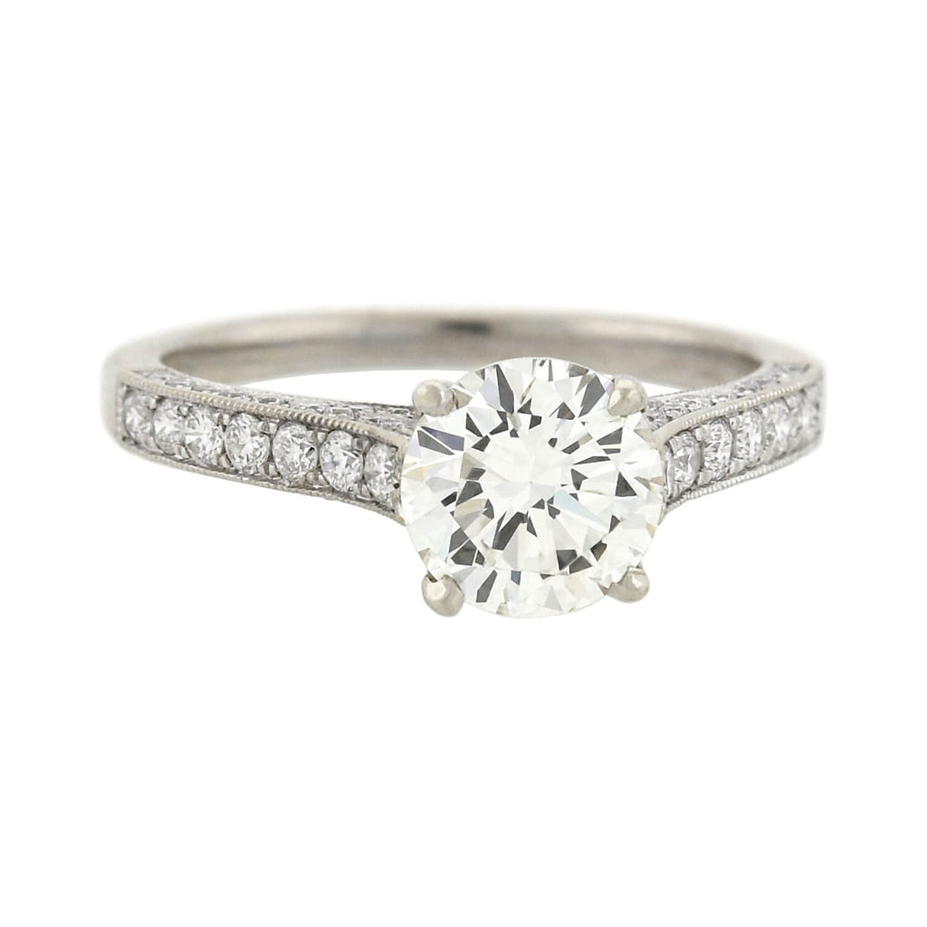 Estate 14kt Diamond Engagement Ring 1.33ct center