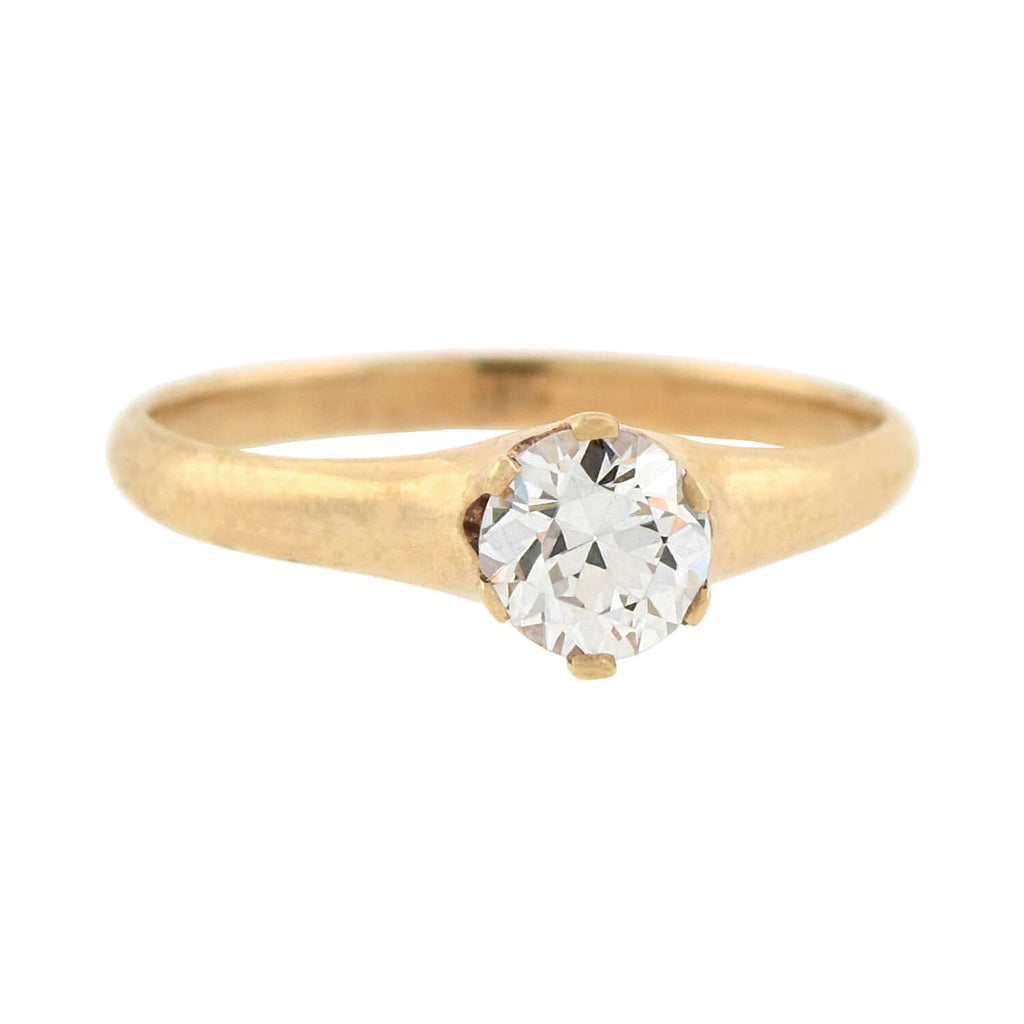 LARTER & SONS Victorian 10kt Diamond Engagement Ring 0.35ct