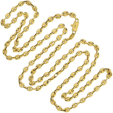 GUCCI Vintage 18kt Anchor Link Chain Necklace 32""