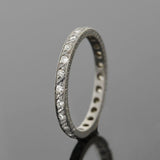Edwardian Platinum Single Cut Diamond Eternity Band .45ctw