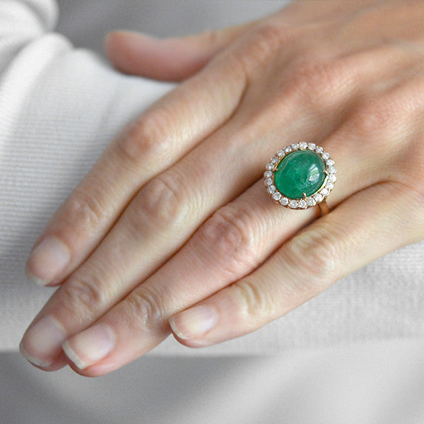 rings ring amethyst right fl diamond green cabochon hand women carat pid gold white engagement
