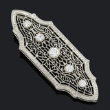 Edwardian 14kt Diamond Filigree Pendant .50ctw