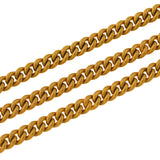 Victorian Long Gold-Filled Curb Link Chain with Watch Clasp 58