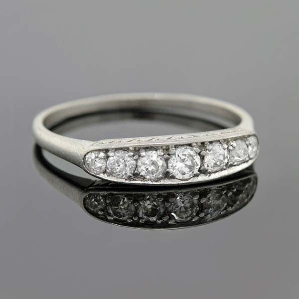 Art Deco Platinum 7-Stone Diamond Ring