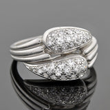 Vintage 18kt & Pavé Diamond Double Wrapped Ring