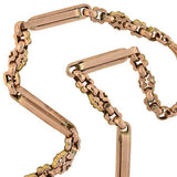 Victorian 9kt Rose Gold Watch Chain 15.5