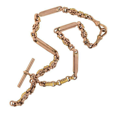 Victorian 9kt Rose Gold Watch Chain 15.5""