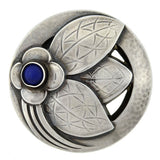 GEORG JENSEN Retro Sterling Silver & Lapis Floral Pin