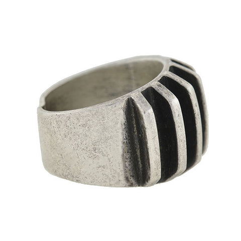 A.G. EKER Vintage Sterling Norwegian Modernist Ring