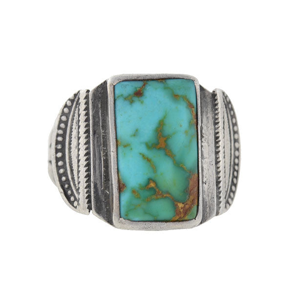 Vintage Sterling Silver & Turquoise American Indian Ring