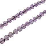 Art Deco Silver & Faceted Amethyst Bead Necklace 32