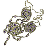 Arts & Crafts Silver Gilt & Amethyst Festoon Necklace