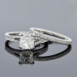 Estate Platinum Diamond Engage Ring & Band Set 1.20ct