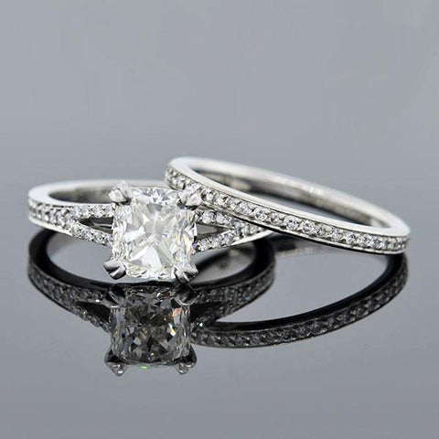 Victorian 14kt Diamond Engagement Ring 0.49ct
