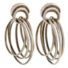 ANTONIO PINEDA Vintage Sterling Multi Hoop Earrings