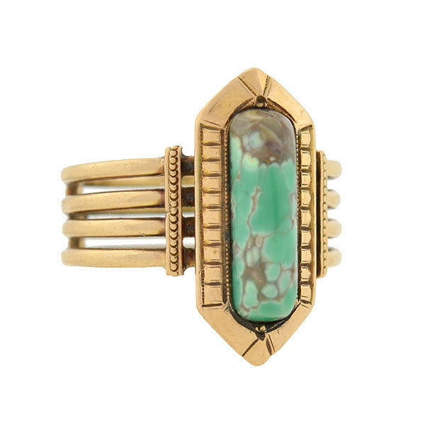 Victorian 15kt Turquoise Stacked Band Ring