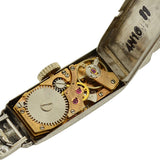 Art Deco Platinum/Rolled Gold Plate Diamond Ladies Watch