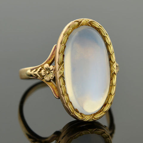 Art Nouveau 18kt Mixed Metal Diamond Engage Ring .22ct