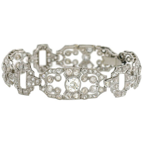 atlas diamond antiques deco art antique bracelet