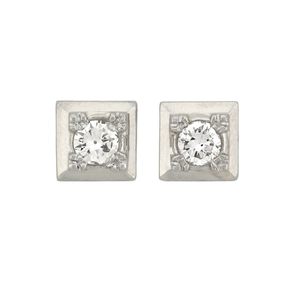 Art Deco 14kt Old European Cut Diamond Stud Earrings 0.60ctw