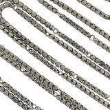 Victorian Long Sterling Silver Articulated Chain 59
