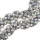 Arts & Crafts Sterling Silver Moonstone Link Bracelet