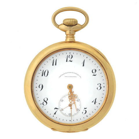 WALTHAM Victorian 14kt Gold Pocket Watch Retailed by Bailey, Banks & Biddle