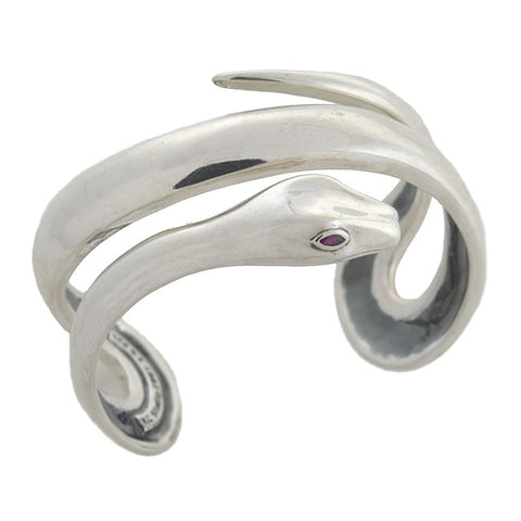 BARRY KIESELSTEIN-CORD Estate Sterling Snake Cuff Bracelet